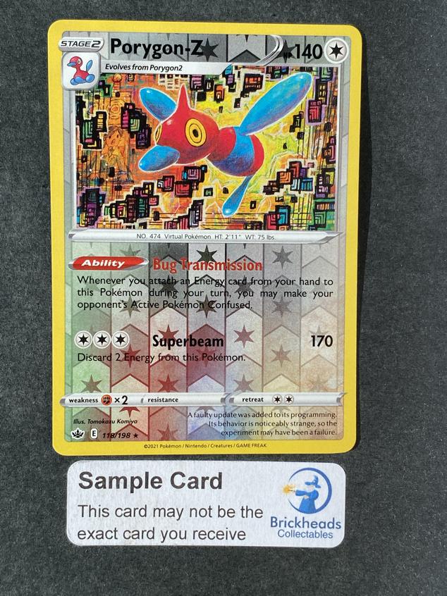 Porygon-Z 118/198 Reverse Holo   SWSH: Chilling Reign   Pokemon Card