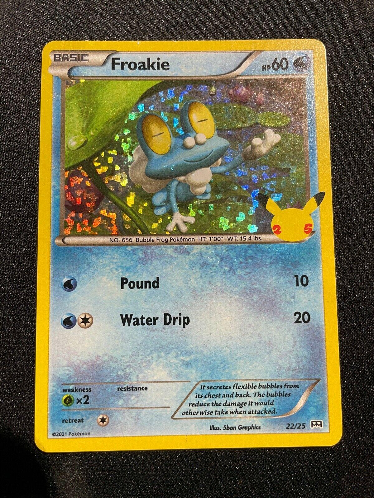 McDonald's Pokemon Trading Card - FROAKIE 22/25 HOLO