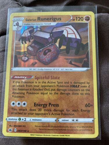 Pokemon Chilling Reign Galarian Runerigus Holo Rare 083/198