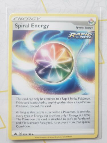 Spiral Energy 159/198 Uncommon NM Sword & Shield Chilling Reign Pokemon TCG Card
