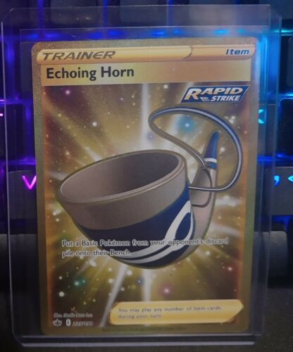 Echoing Horn Secret Rare Gold - 225/198 | Chilling Reign | Perfect Centering
