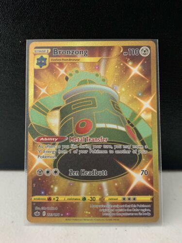 Bronzong Shiny GOLD Secret Rare 223/198 - Pokemon Chilling Reign NM
