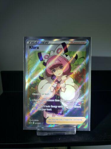Klara 194/198 Sword & Shield Chilling Reign Full Art Trainer Pokemon Card NM/M