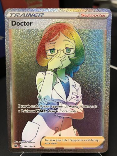 Pokemon Chilling Reign Hyper Rainbow Rare Trainer Doctor 214/198