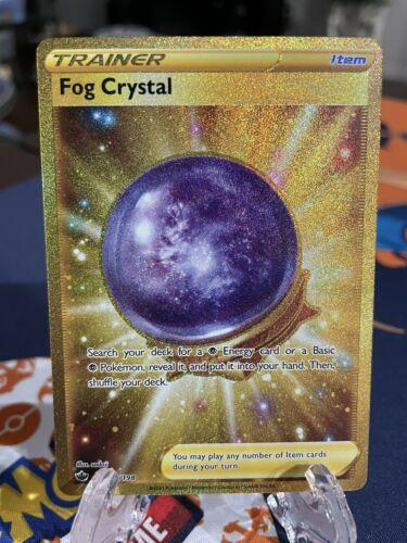 ⭐️Sword & Shield Chilling Reign Crystal Fog Secret Rare Gold 227/198 Fresh Mint!