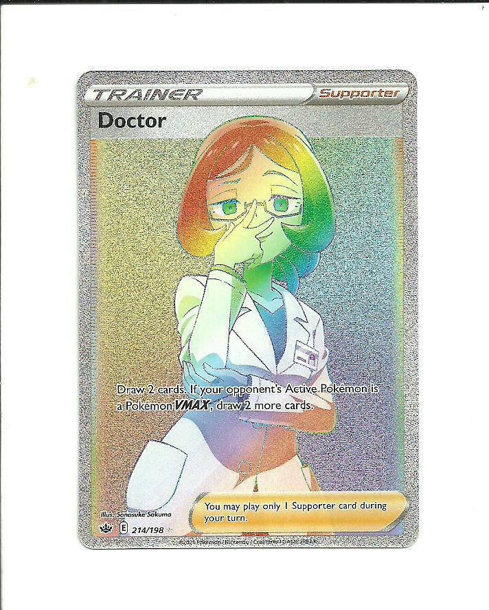 POKEMON CHILLING REIGN Doctor Secret Rare Trainer 214/198