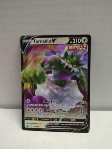 Pokemon Chilling Reign Tornadus V 124/198