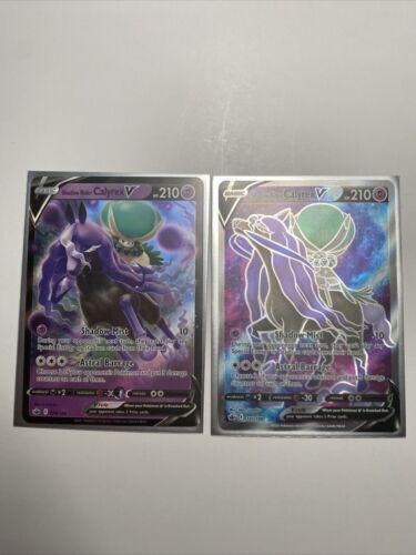 Shadow Rider Calyrex V FULL ART 171/198 Holo Pokemon Card Chilling Reign