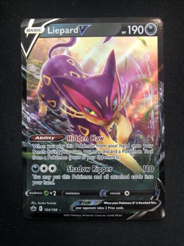 Pokemon Card TCG - Liepard V 104/198 - Chilling Reign - NM/MINT