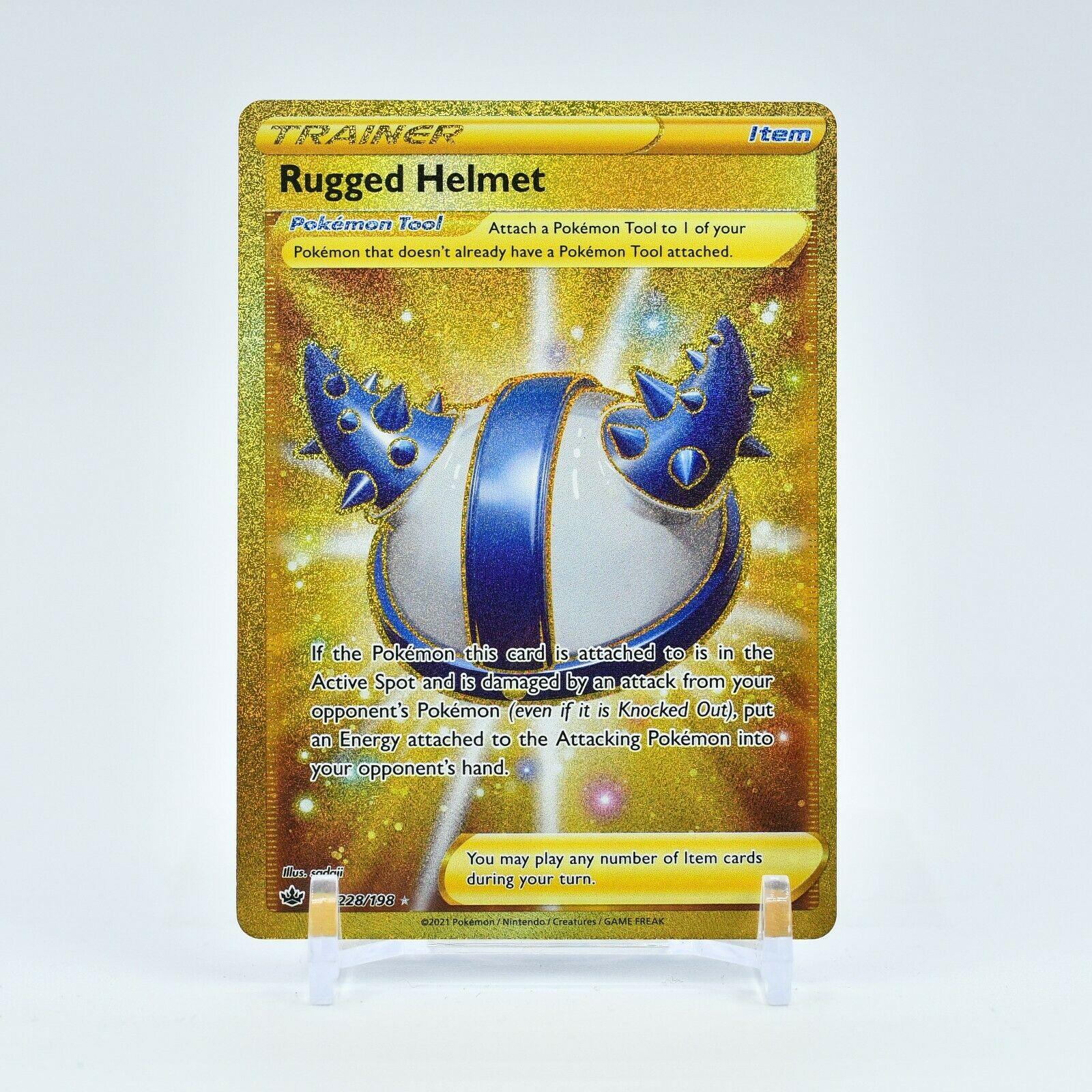 Rugged Helmet - 228/198 Chilling Reign SECRET RARE GOLD Trainer - NM/MINT