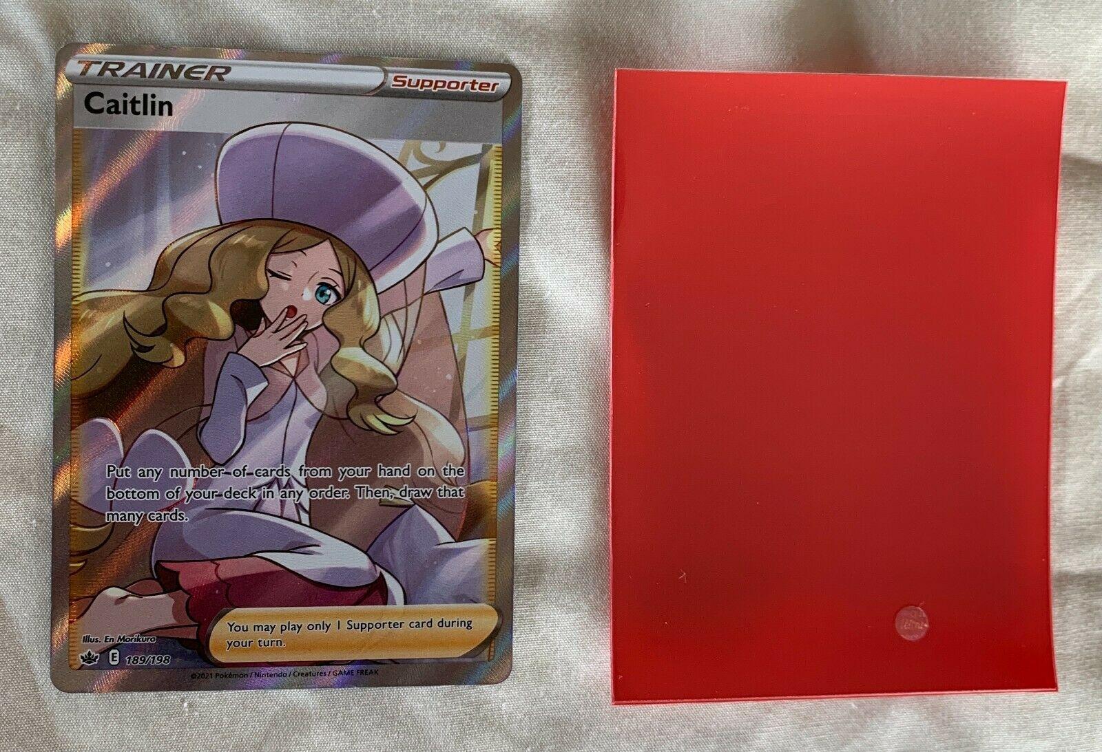 Trainer Caitlin 189/198 ULTRA RARE Full Art Chilling Reign Pokemon Card