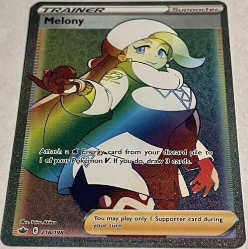 Pokémon Tcg Melony 218/198 Rainbow Full Art Chilling Reign