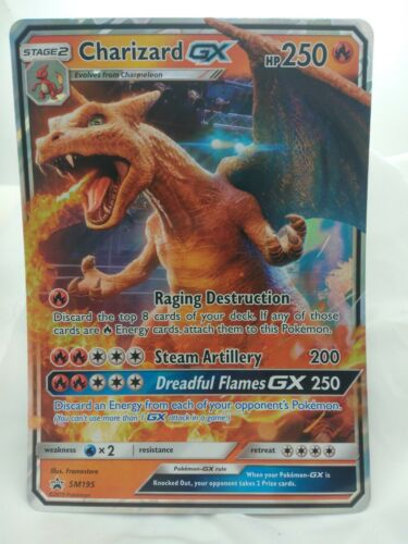 Charizard GX SM195 NM JUMBO CARD Pokemon TCG Black Star Promo NM