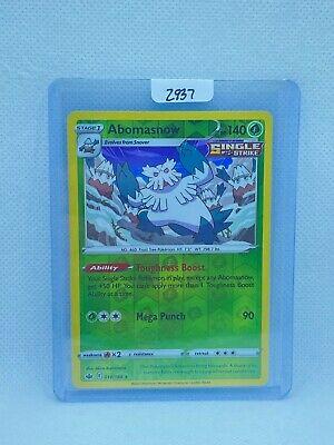 Pokémon TCG Abomasnow Reverse Holo 010/198   Chilling Reign   Play/Grade Ready