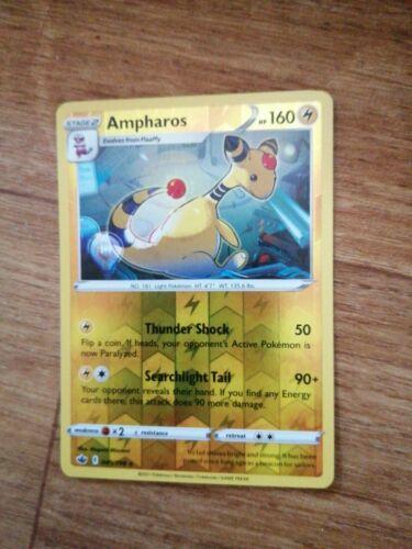 049/198 Ampharos | Rare Reverse Holo Pokemon Card Sword & Shield Chilling Reign