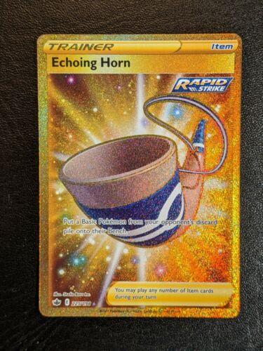Echoing Horn 225/198 Gold Secret Rare - Chilling Reign - Pokemon M/NM - Image 1