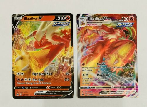 Blaziken V And VMAX- Chilling Reign - 021/198 - 020/198 - Pokemon Card Set Of 2
