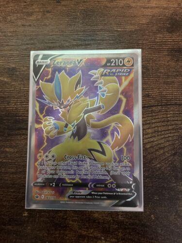 Zeraora V Rapid Strike FULL ART 165/198 Holo Pokemon Card Chilling Reign