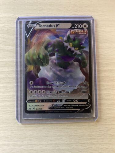 Pokémon TORNADUS V 124/198 Holo Ultra Rare Chilling Reign - Near Mint Condition