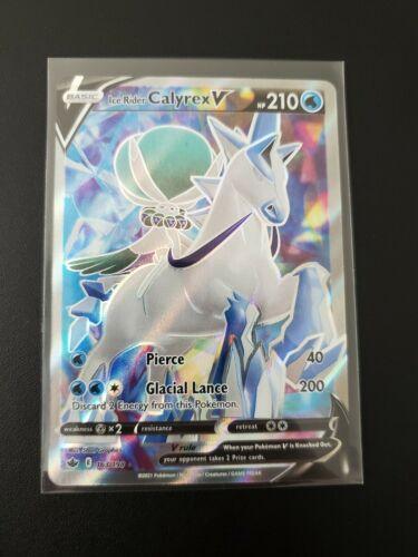 2021 Pokemon Chilling Reign Ice Rider Calyrex V. 163/198. Near Mint.