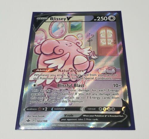 Blissey V - Alternate Full Art 183/198 Pokemon Chilling Reign Card Near Mint