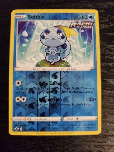 Sobble 041/198 Chilling Reign Reverse Holo Pokemon Card NM