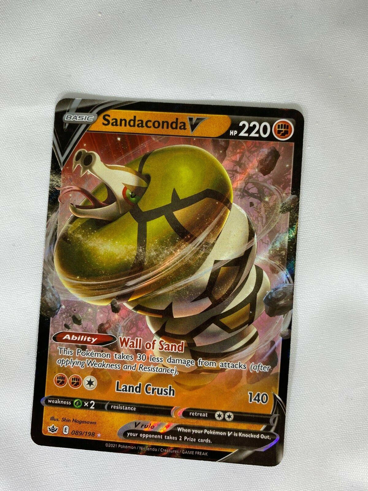 SANDACONDA V 089/198 CHILLING REIGN POKEMON CARD- ULTRA RARE HOLO- NM/M