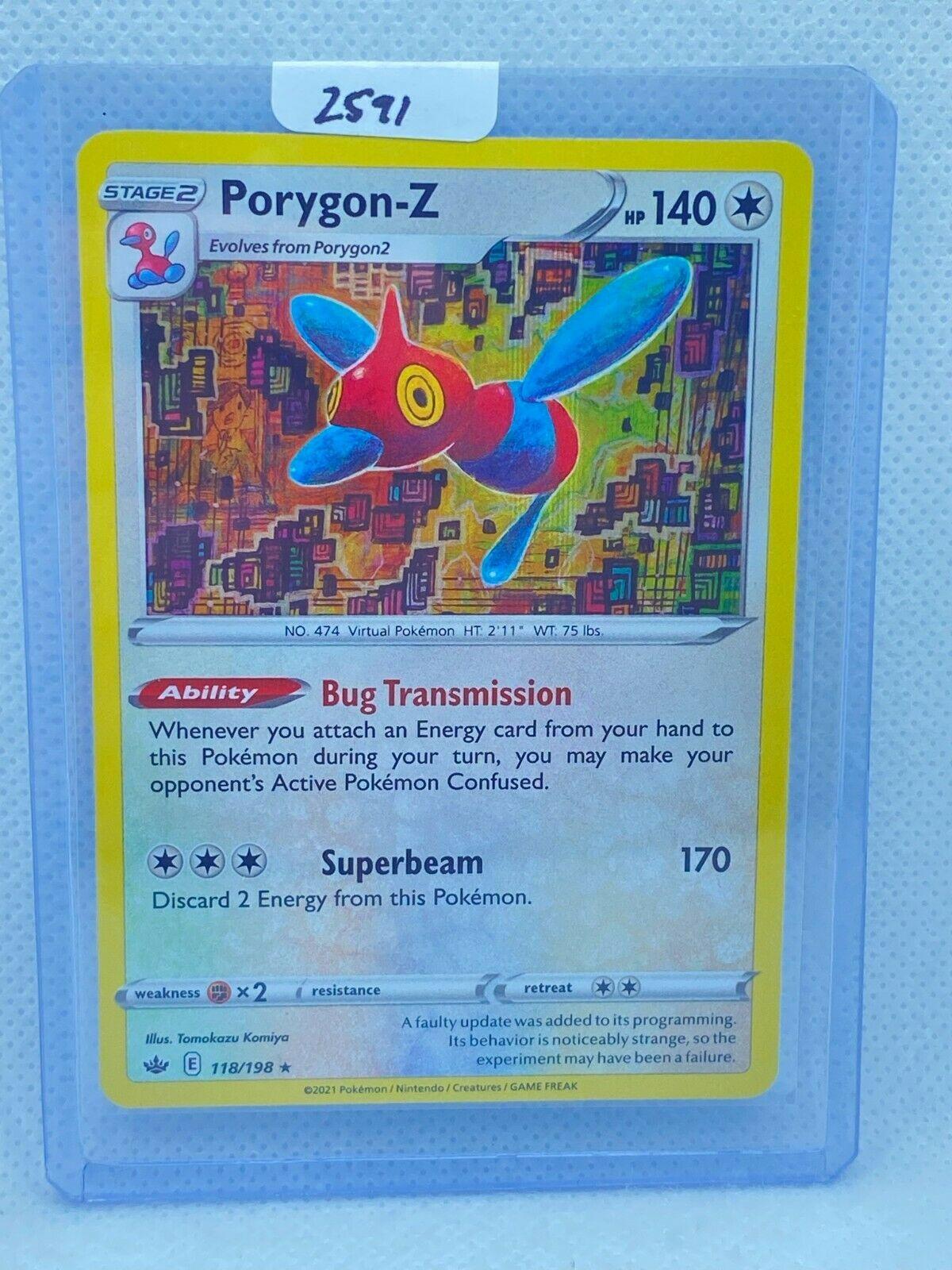 Pokémon TCG Porygon-Z Holo 118/198   Chilling Reign   Play/Grade Ready