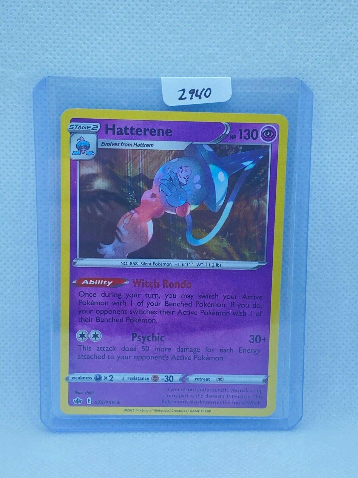 Pokémon TCG Hatterene Holo 073/198 | Chilling Reign | Play/Grade Ready