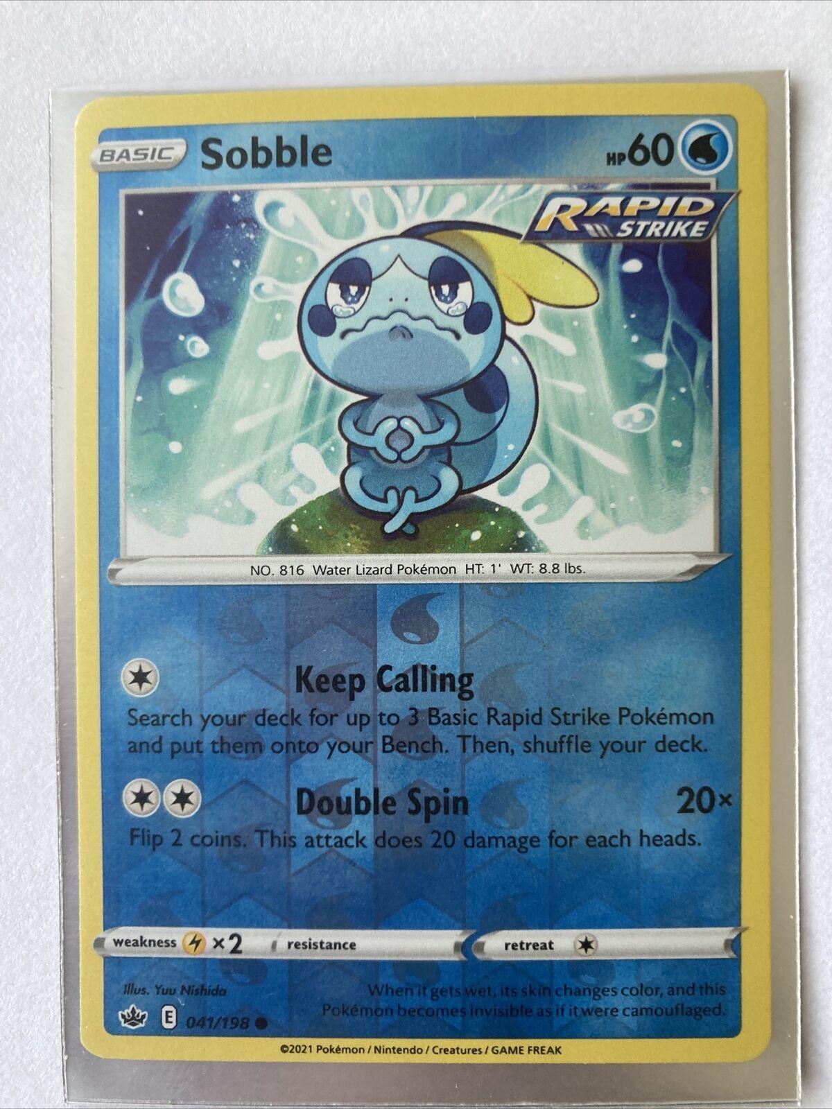 Pokemon - Sobble - Chilling Reign - 041/198 - Reverse Holo
