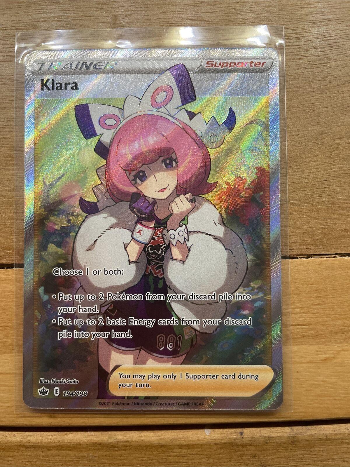 Pokemon Chilling Reign Klara Ultra Rare Full Art 194/198