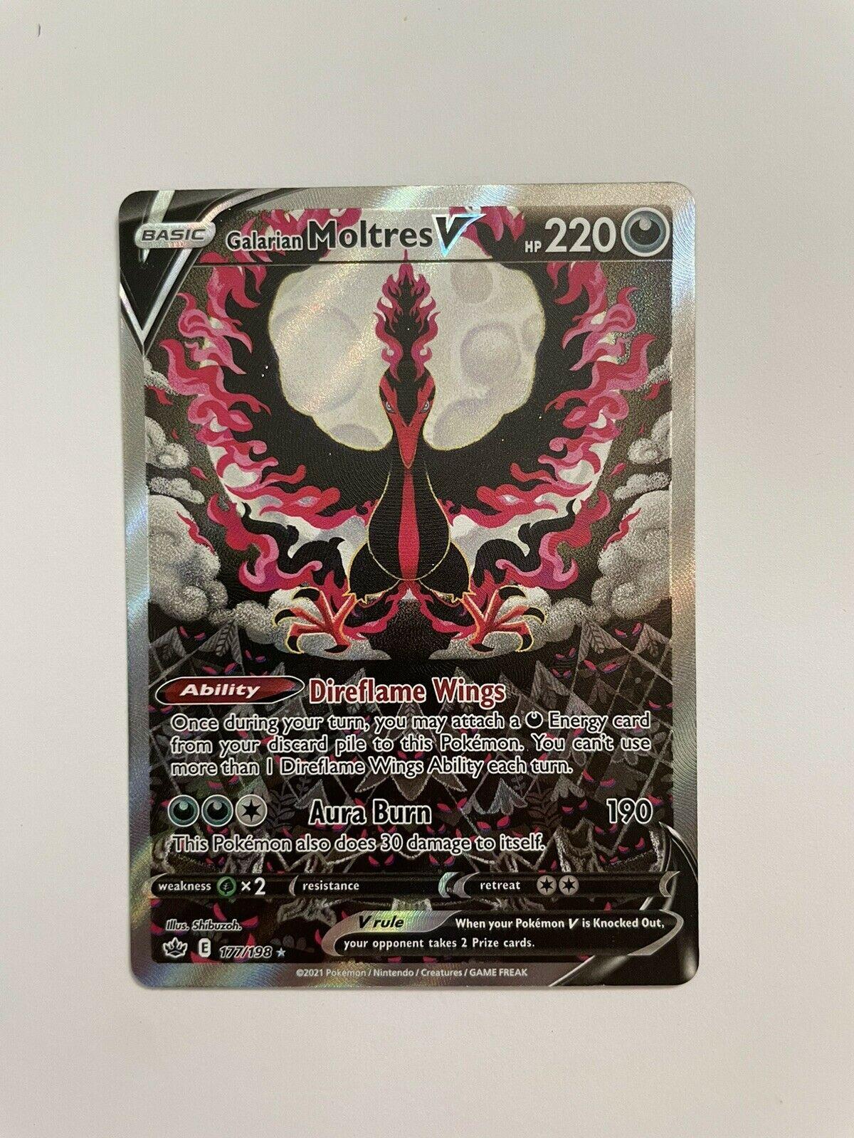 Galarian Moltres V - [177/198] Pokemon Chilling Reign-Alternate Art-Ultra Rare