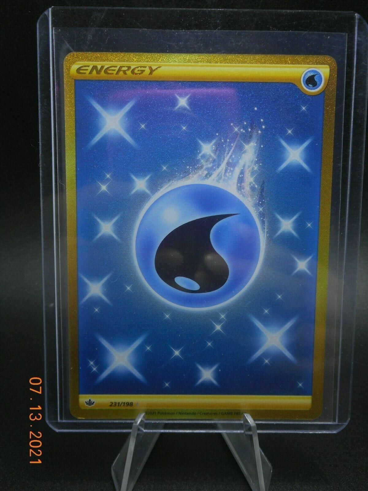 Pokemon TCG - Gold Water Energy - Secret Rare - 231/198 - Chilling Reign
