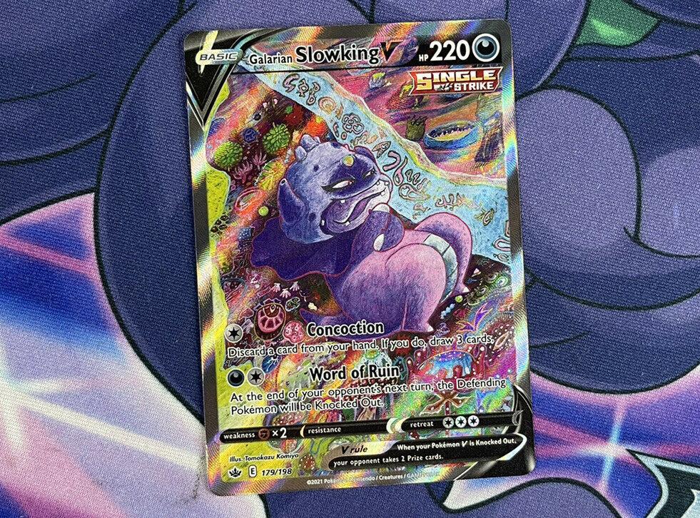 Galarian Slowking V 179/198 Alternate Full Art Chilling Reign Pokemon Card Mint