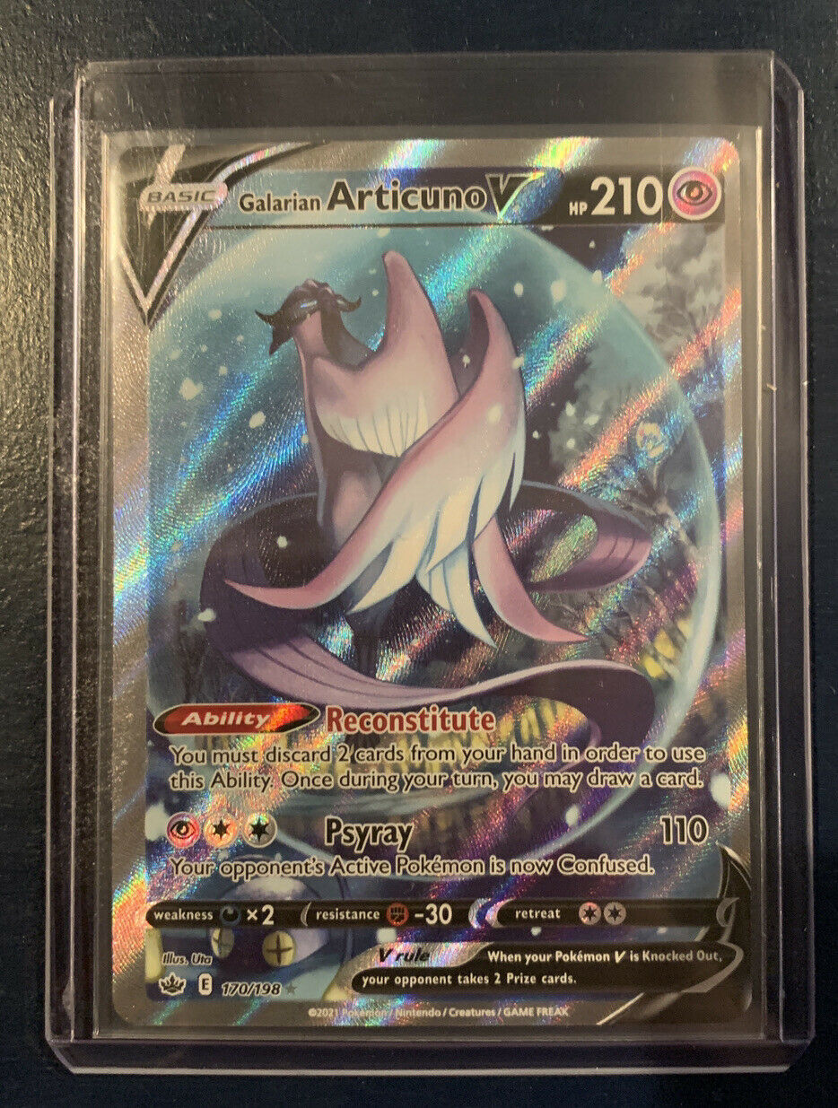 Galarian Articuno V 170/198 ALTERNATE ART Pokemon Chilling Reign MINT PACKFRESH