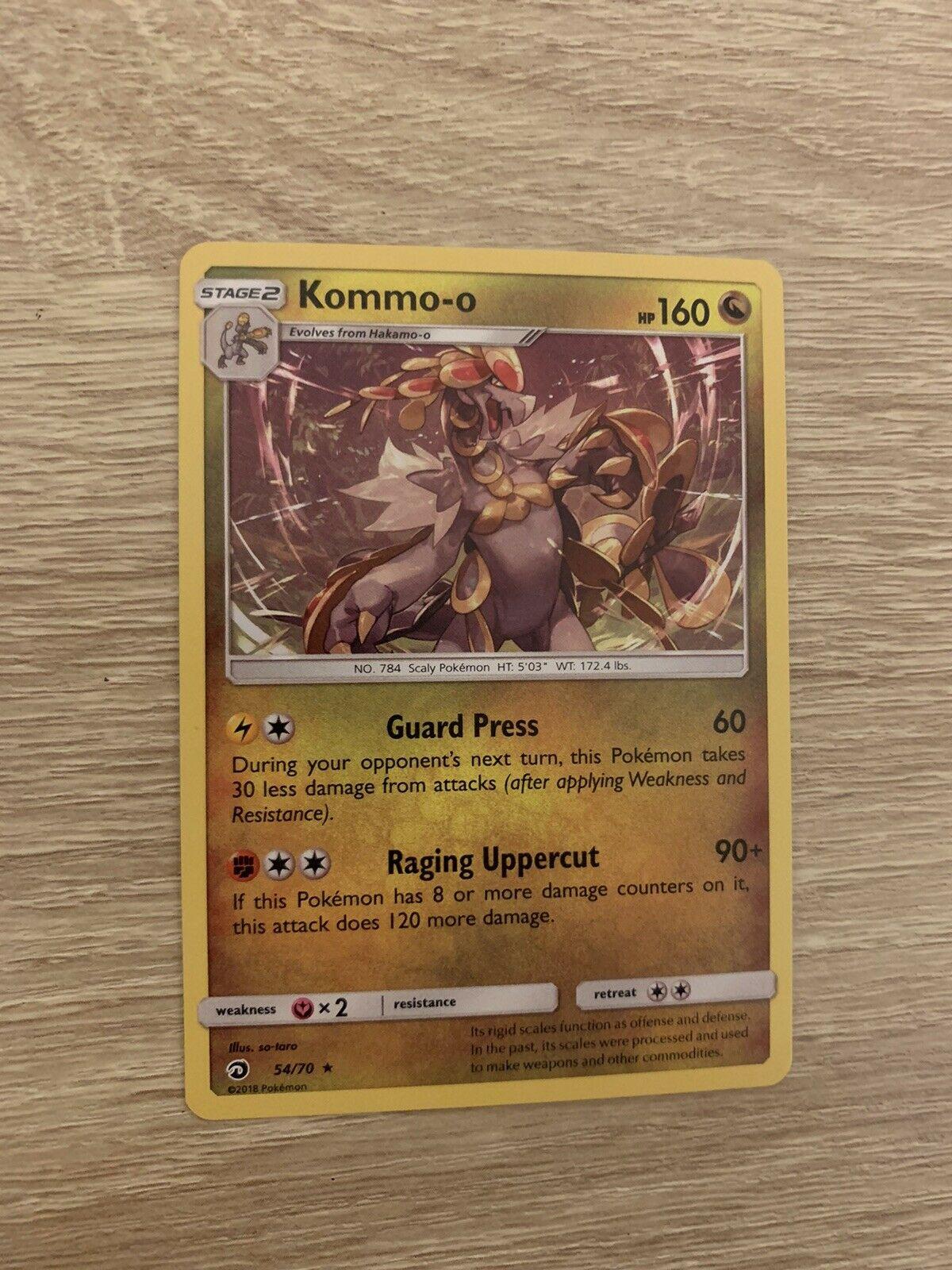 Kommo-o Holo Pokemon Card 54/70 Dragon Majesty Rare Near Mint