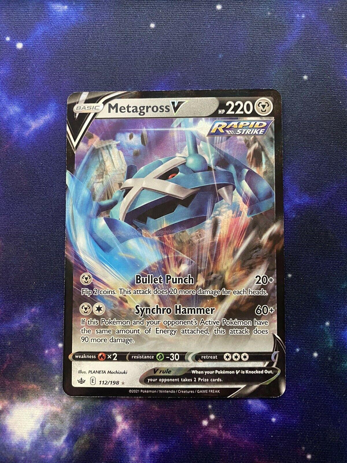 Metagross V 112/198 Chilling Reign Full Art Ultra Rare Pokemon Card - NM