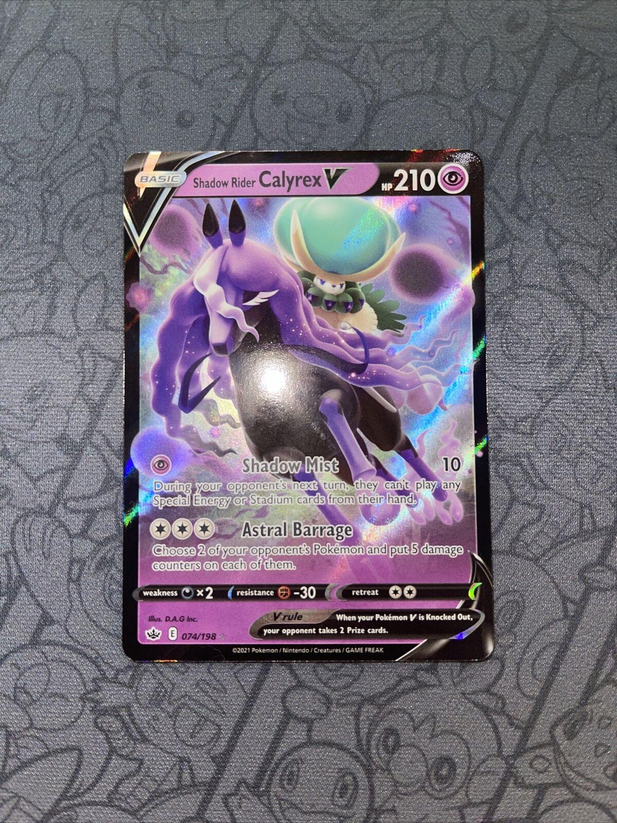 Shadow Rider Calyrex V 074/198 Ultra Rare Pokémon Chilling Reign NM