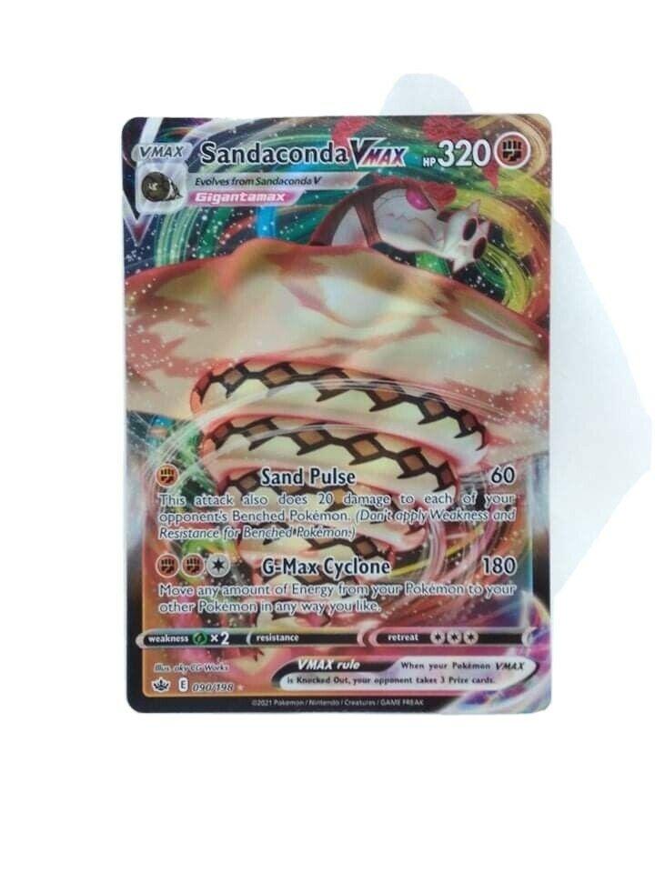 Sandaconda Vmax 090/198 Chilling reign pokemon card Mint Condition