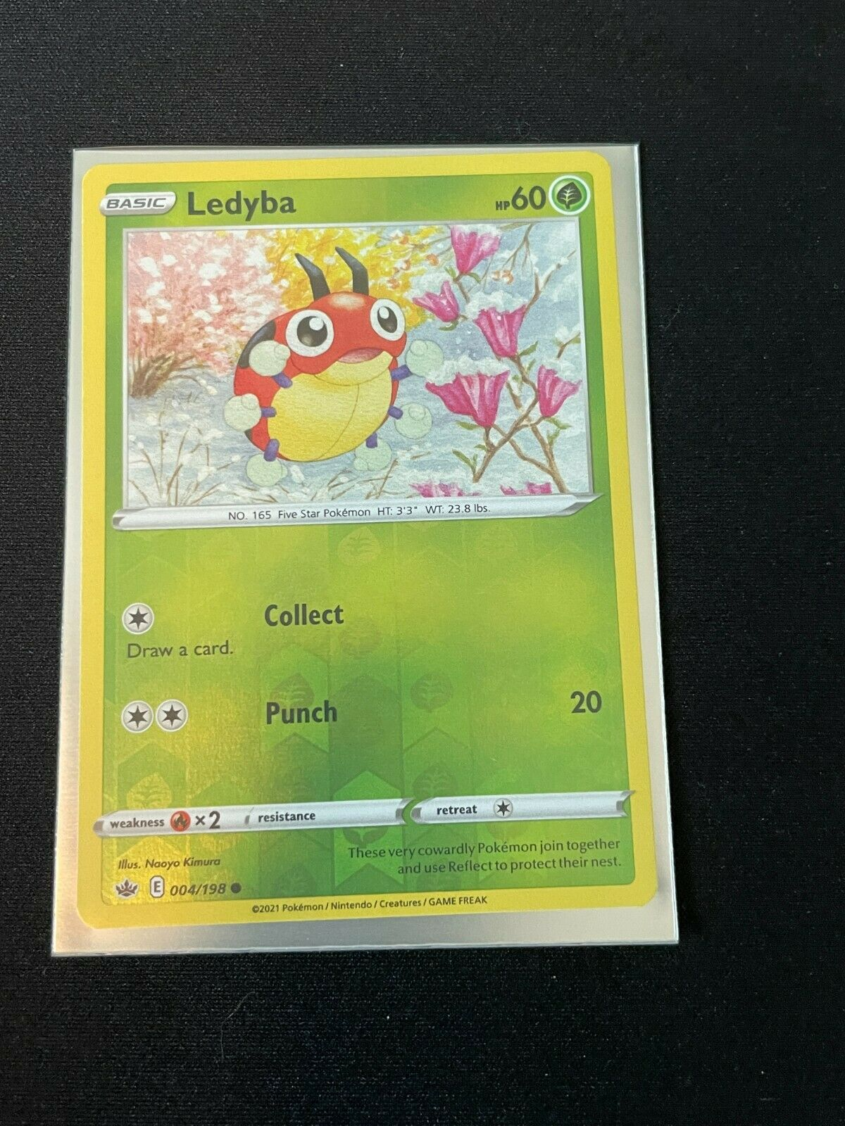 Pokemon Ledyba 004/198 Chilling Reign REVERSE HOLO NM