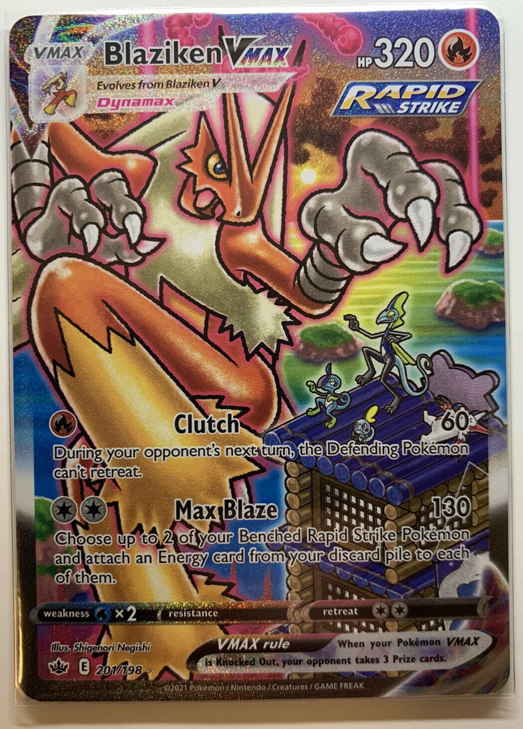 ❄️👑 Pokémon TCG | Chilling Reign | Blaziken VMAX Alt Art | 201/198 ❄️👑
