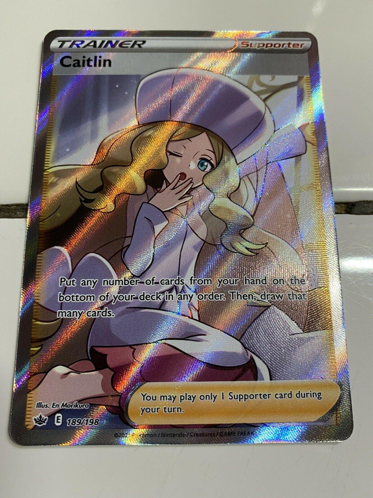Caitlin Full Art Trainer 189/198 Chilling Reign Pokemon card. Mint.