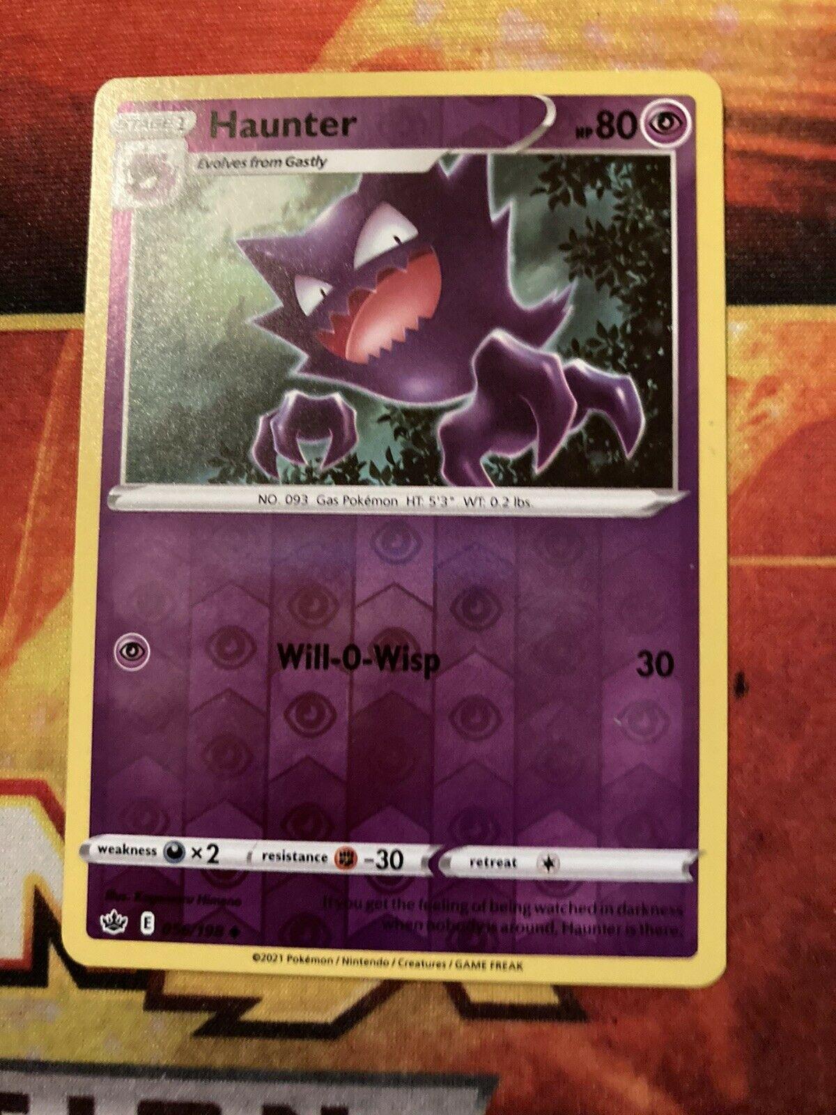 Pokemon - Haunter - Chilling Reign - 056/198 - Reverse Holo-NM