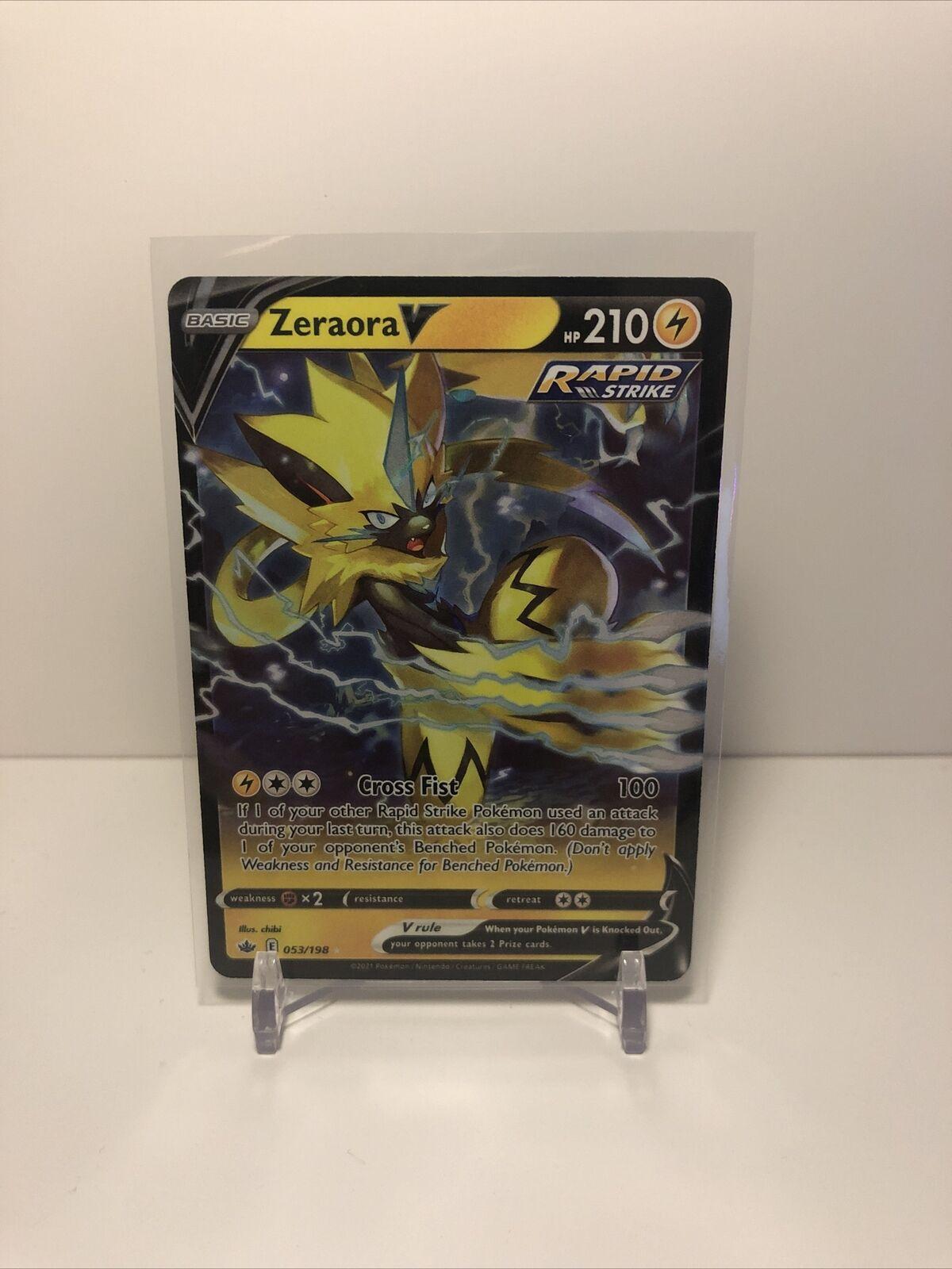Zeraora V Pokémon Card (Chilling Reign 053/198) Ultra Rare