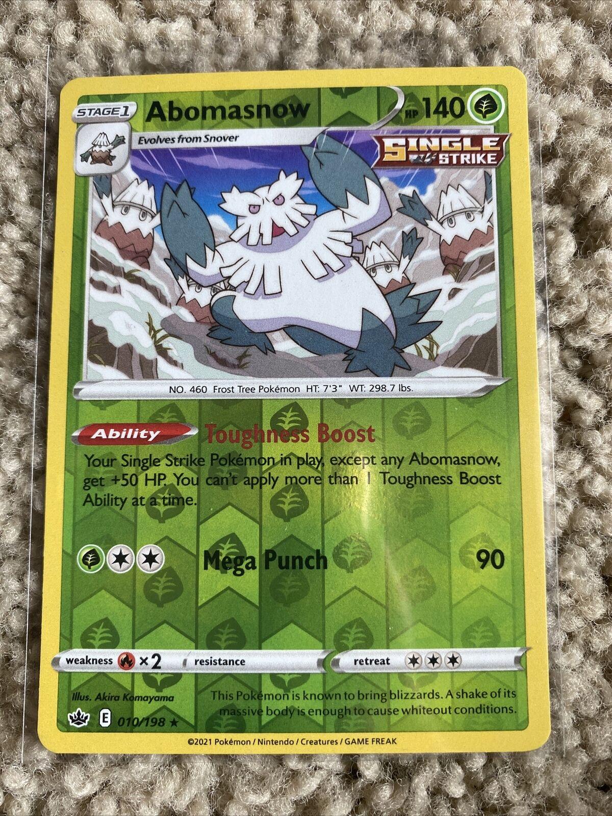 Abomasnow - 010/198 Reverse Holo Pokemon Chilling Reign
