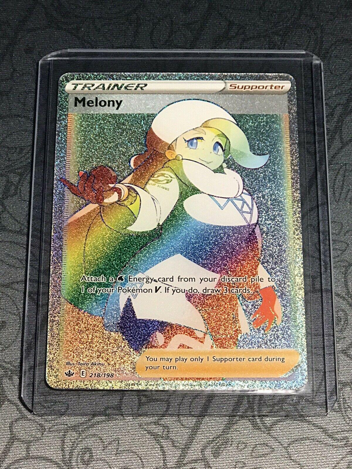 Melony 218/198 Full Art Secret Rare Rainbow Chilling Reign Pokemon Card