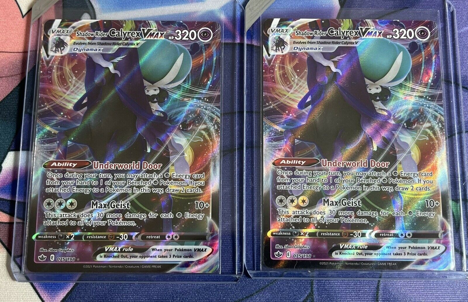 Shadow Rider Calyrex VMAX (TWO / X2) 075/198 Full Art Chilling Reign Pokemon