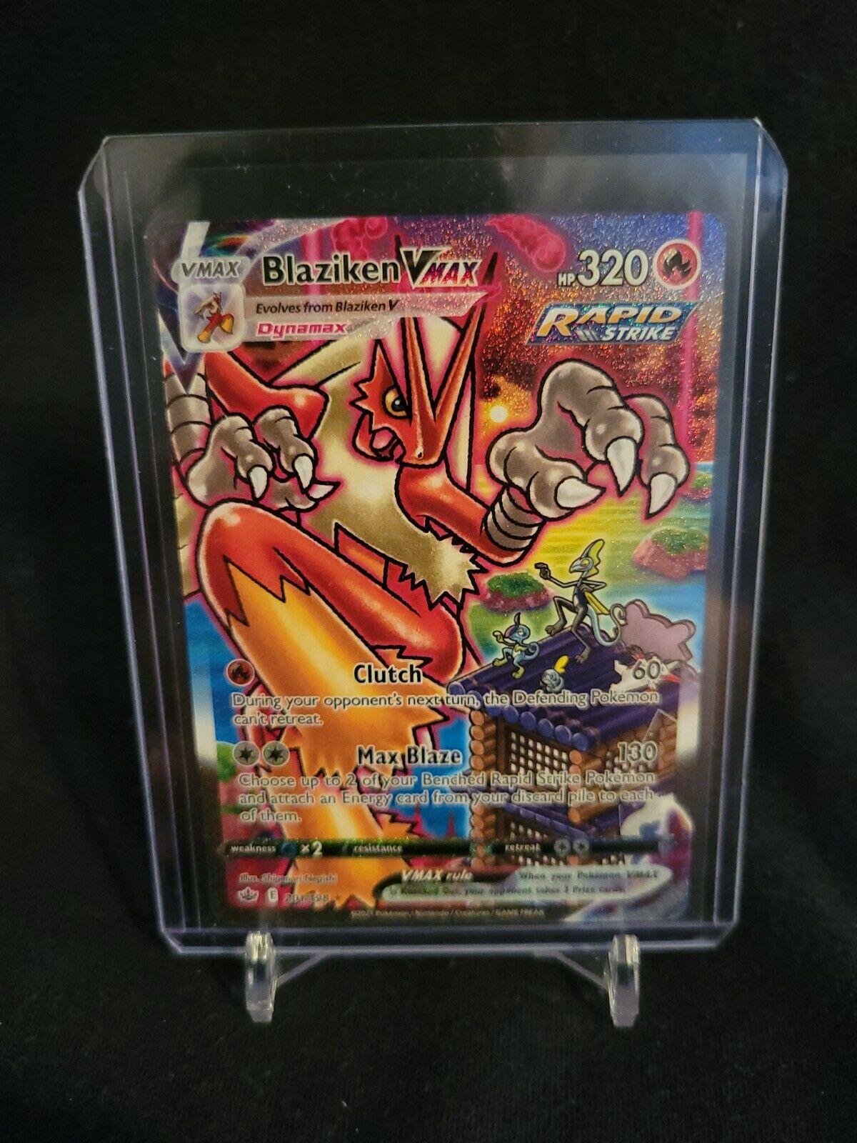 Pokemon Chilling Reign Blaziken VMAX 201-198 ALTERNATE ART SECRET RARE