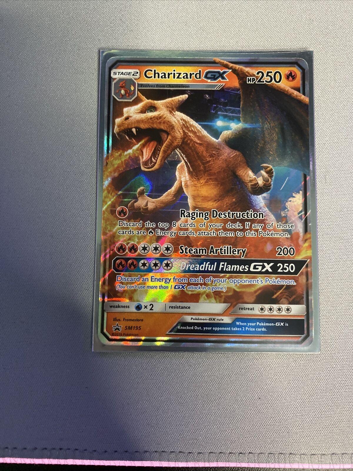 Pokemon Sun & Moon Ultra Rare Holo Charizard GX SM195 Promo NM/Mint