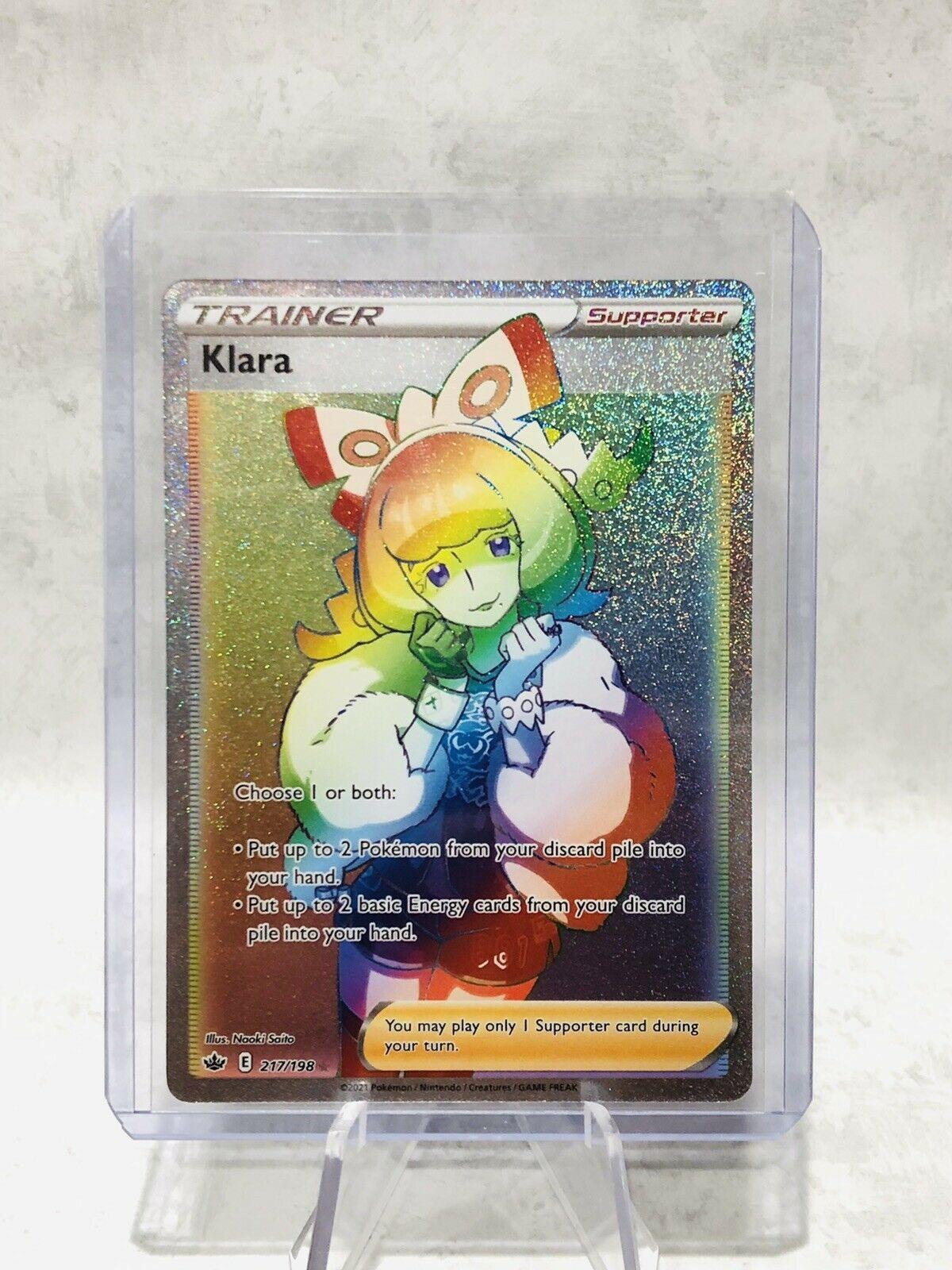 Klara Rainbow Rare Secret Rare 217/198 Chilling Reign Pokemon Full Art NM